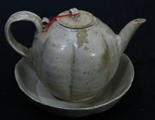 Chinese Antique Teapot and Saucer