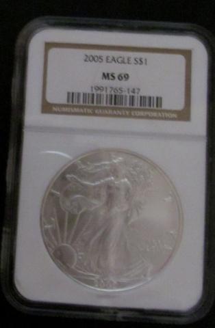 2005 American Silver Eagle MS69