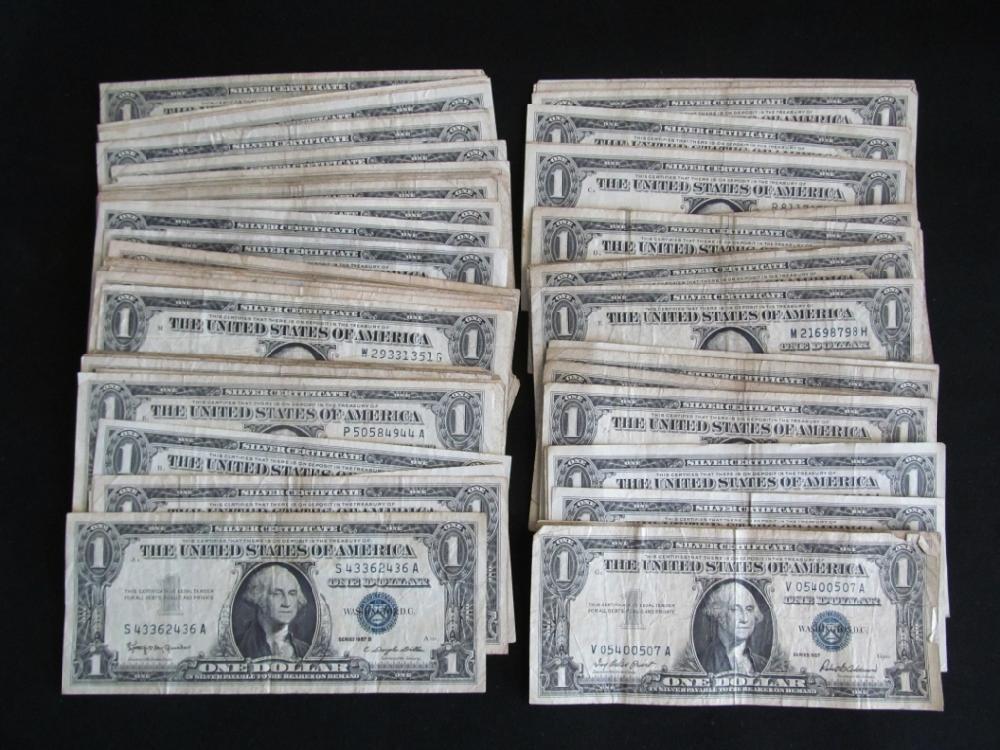 (100) Silver Certificate Dollar BIlls