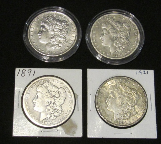 (4) Morgan Silver Dollars