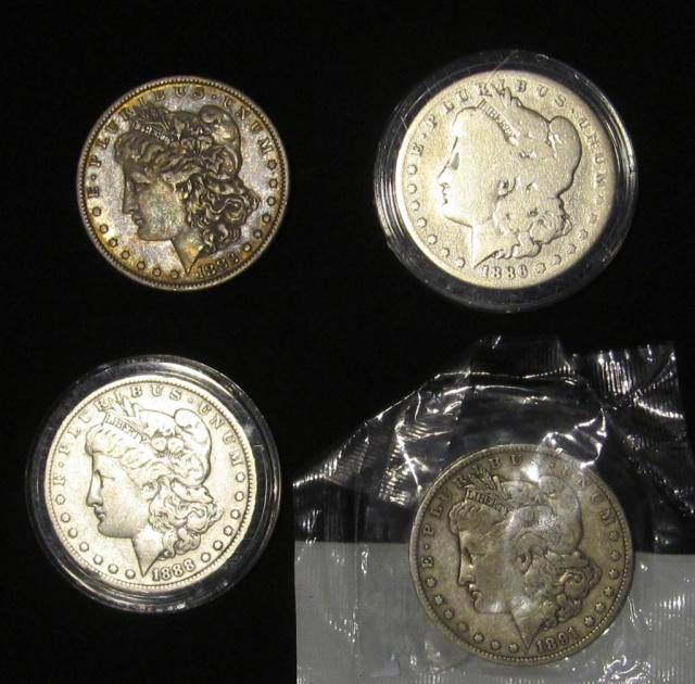 (4) Morgan Silver Dollars