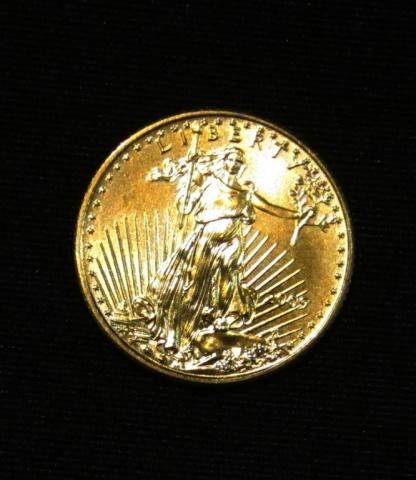 2009 1/10 oz American Eagle $5 Dollar Gold Coin