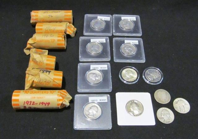 Collection of Quarters - 90 % are pre 1964 Silver