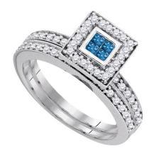 14K White-gold 0.59CT DIAMOND INVISIBLE RING #35284v3