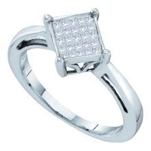 14KT White Gold 0.25CTW DIAMOND LADIES INVISIBLE RING #34884v3