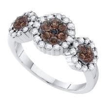 14K White-gold 0.50CTW DIAMOND FLOWER RING #34678v3