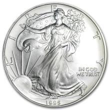 1995 1 oz Silver American Eagle BU #21399v3