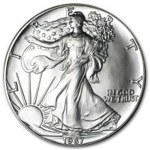 1987 1 oz Silver American Eagle BU #21393v3