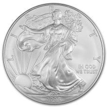 2008 1 oz Silver American Eagle BU #21389v3
