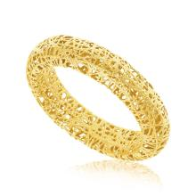 14K Yellow Gold Wire Mesh Tube Style Ring #92001v2