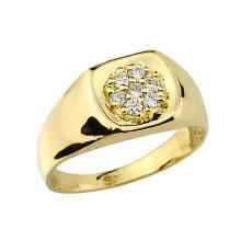 10K Men's Gold Diamond Wedding Ring APPROX .25 CTW #23621v3