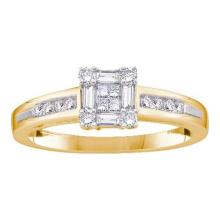 14K Yellow-gold 0.25CTW DIAMOND INVISIBLE RING #37112v3