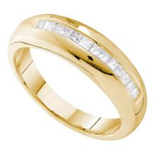 14KT Yellow Gold 0.50CTW DIAMOND INVISIBLE MENS RING #37104v3
