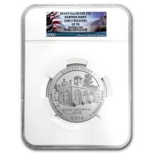 2016-P 5 oz Silver ATB Harpers Ferry SP-70 NGC (Early Release) #75400v3