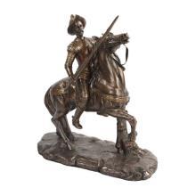 Don Quijote Cold Cast Bronze Statue #71264v2