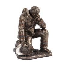 Fireman Reflecting Cold Cast Bronze Statue #71262v2