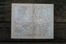 GENUINE AUTHENTIC 1888 MAP OF ADELAIDE, SYDNEY, BRISBANE AND MELBOURNE #70899v2