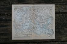 GENUINE AUTHENTIC 1888 MAP OF CENTRAL EUROPE #70905v2