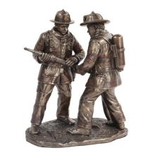 Firefighters Teamwork Cold Cast Bronze Statue #71260v2