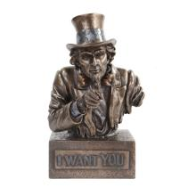 Uncle Sam Bust Cold Cast Bronze Statue #71259v2