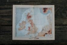 GENUINE AUTHENTIC 1888 MAP OF THE BRITISH ISLES #70903v2