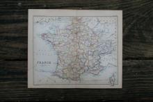 GENUINE AUTHENTIC 1888 MAP OF FRANCE #70907v2