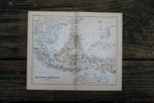 GENUINE AUTHENTIC 1888 MAP OF EAST INDIAN ARCHIPELAGO #70895v2