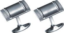 Visol Impresio Rectangular Stainless Steel Cufflinks #17931v2