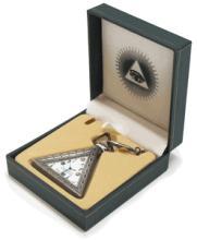 Triangle Pyramid Masonic Pocket Watch #13251v2
