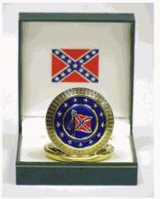 Generals Lee & Jackson Confederacy Pocket Watch #13259v2