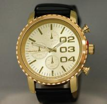 GOLD AND BLACK MONTE CARLO WRIST WATCH #13029v2