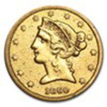 1860 $5 Liberty Gold Half Eagle VF Details #33783v2