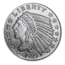 1/4 oz Silver Round - Incuse Indian #21611v3