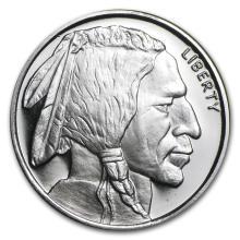 1/2 oz Silver Round - Buffalo #21620v3