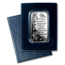 1 oz Silver Bar - Poem for Mother (w/Box & Capsule) #22038v3
