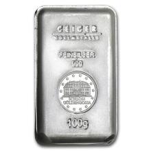 100 gram Silver Bar - Secondary Market #21922v3