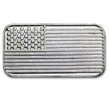 1 gram Silver Bar - American Flag #21780v3