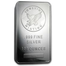 100 oz Silver Bar - Sunshine (V2) #21782v3
