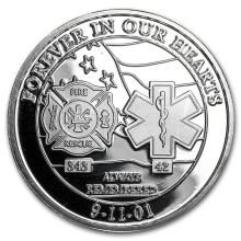 1 oz Silver Round - Forever In Our Heart 9/11 #21666v3