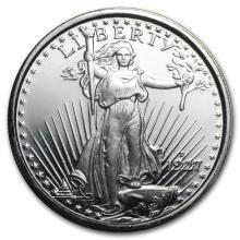 1 oz Silver Round - Saint-Gaudens #21609v3