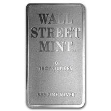 10 oz Silver Bar - Wall Street Mint (Type 2) #21954v3