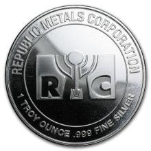 1 oz Silver Round - Republic Metals Corporation (RMC) #21602v3