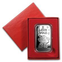 1 oz Silver Bar - I Love You Bear (w/Box & Capsule) #22040v3