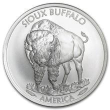 2015 1 oz Silver BU Native American Mint $1 Sioux Indian #21612v3