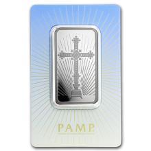 1 oz Silver Bar - PAMP Suisse Religious Series (Romanesque Cross) #21827v3