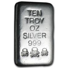 10 oz Silver Bar - Atlantis Mint (Skull & Bones) #21824v3