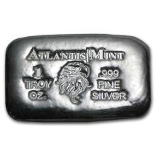 1 oz Silver Bar - Atlantis Mint (Eagle) #21819v3