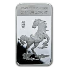10 oz Silver Bar - (2014 Year of the Horse) #21831v3