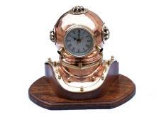 The Hampton Nautical Copper Diver's Helmet Clock 12