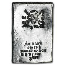3 oz Silver Bar - Pirate Skull (Limited Edition, Type 1) #21912v3
